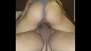 Asian hotwife rides BBC until he cums