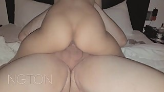 Asian girlfriend fucked by white guy