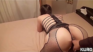 Amateur wife whose husband is on a business trip 17 -LIcking &amp_ fingering on her husband'_s bed-